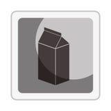 Icône fraîche de boîte à lait Photos libres de droits