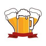 Icône fraîche de boissons de bière Photographie stock
