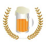 Icône fraîche de boissons de bière Photographie stock libre de droits