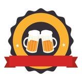 Icône fraîche de boissons de bière Photo libre de droits
