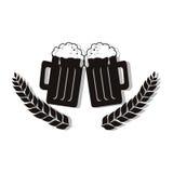 Icône fraîche de boissons de bière Images stock