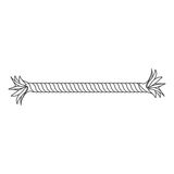 icône frangée de morceau de corde cassée par plan rapproché de silhouette Photo stock