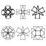 Icône géométrique de croix d'astrologie d'icône de modèle Images libres de droits