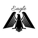 Icône gothique héraldique noire de vecteur d'Eagle Photos stock
