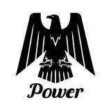 Icône gothique héraldique noire de vecteur d'Eagle Photographie stock