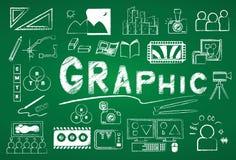 Icône graphique Photographie stock libre de droits