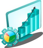 Icône graphique d'application Images libres de droits