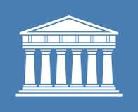 Icône grecque de temple d'architecture Photos stock