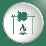 Icône grillée de poulet Photo stock