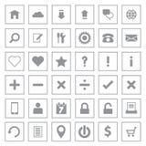 Icône grise de Web réglée sur le cadre de rectangle Photos stock