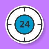 Icône 24 heures sur 24 de service Image stock