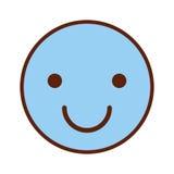 Icône heureuse d'emogy de visage illustration de vecteur