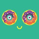 Icône heureuse de beignet Images stock