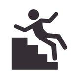 Icône humaine d'accidents de silhouette illustration libre de droits