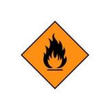 Icône inflammable de signe Photographie stock libre de droits