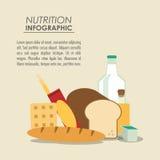 Icône infographic de nourriture de nutrition Images stock