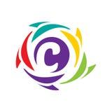 Icône initiale de C Photo libre de droits