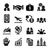 Icône internationale d'affaires Images stock