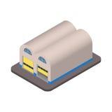 Icône isométrique de bâtiment d'entrepôt pour votre 3D APP Images stock