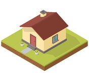 Icône isométrique de maison Images stock