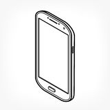 Icône isométrique de téléphone Photos stock