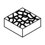 Icône isométrique de terrain stérile illustration stock