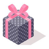 Icône isométrique de vecteur de boîte-cadeau illustration libre de droits