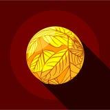 Icône jaune de planète, style plat illustration de vecteur