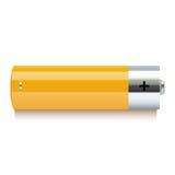 Icône jaune réaliste de batterie Photo libre de droits