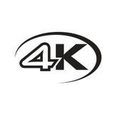 Icône 4K noire Photographie stock libre de droits