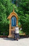 Icône le ressort saint du séraphin de saint de Sarov, Russie Images libres de droits
