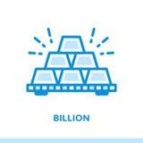 Icône linéaire MILLIARD des finances, encaissant Approprié à l'APP mobile Photos stock