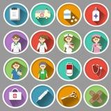 Icône médicale dans la conception plate Image stock
