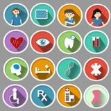 Icône médicale dans la conception plate Image libre de droits