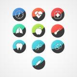 Icône médicale de Web Photos libres de droits