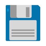 Icône magnétique à disque souple de soutien de stockage de données d'ordinateur Photo stock