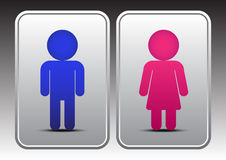 Icône masculine et femelle de toilettes Image stock