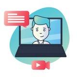 Icône matérielle de conception pour l'éducation, cours visuels, cours en ligne, concept s'exerçant Images stock