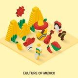 Icône mexicaine isométrique Photo stock