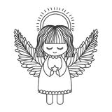 Icône mignonne d'ange illustration de vecteur
