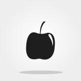 Icône mignonne d'Apple dans le style plat à la mode d'isolement sur le fond de couleur Photos stock