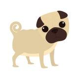 Icône mignonne de bande dessinée de chien Photos stock