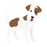 Icône mignonne de bande dessinée de chien Images libres de droits