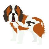 Icône mignonne de bande dessinée de chien Image libre de droits