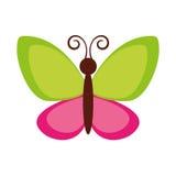 Icône mignonne de vol de papillon Images stock