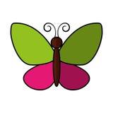 Icône mignonne de vol de papillon Photo stock