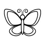 Icône mignonne de vol de papillon Images libres de droits