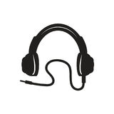 Icône moderne d'écouteurs Photo libre de droits