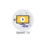 Icône moderne de téléviseur de Smart TV Images stock