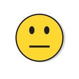 Icône négative d'émotion de personnes de visage triste jaune illustration stock